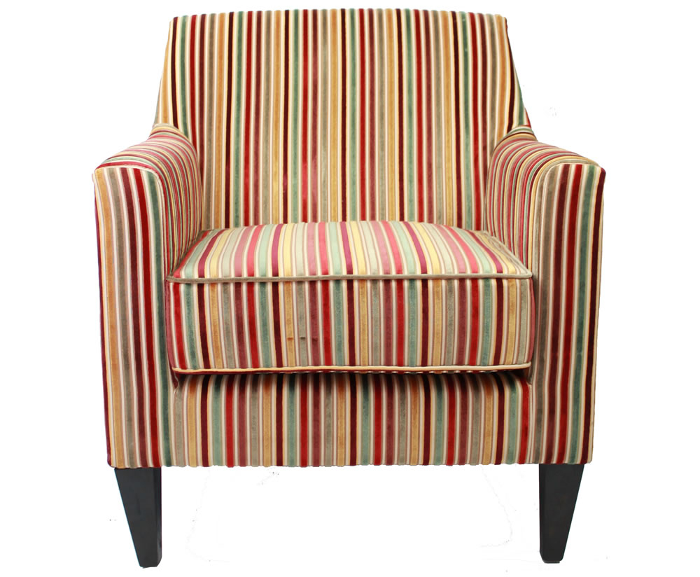 Golding Candy Striped Fabric Arm Chair Inside Striped Sofas And Chairs (View 8 of 15)