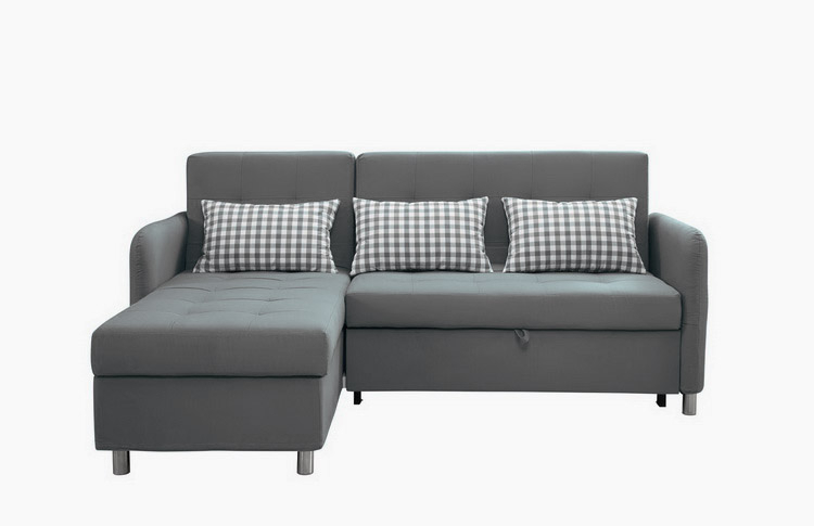 Good Quality Sectional Corner L Shape Sofa Cum Bed With Inside Prato Storage Sectional Futon Sofas (View 15 of 15)