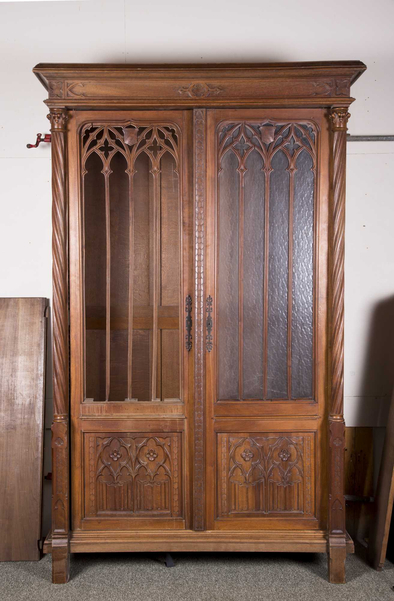 Gothic Revival Carved Walnut Armoire Inside Gothic Sofas (View 4 of 15)