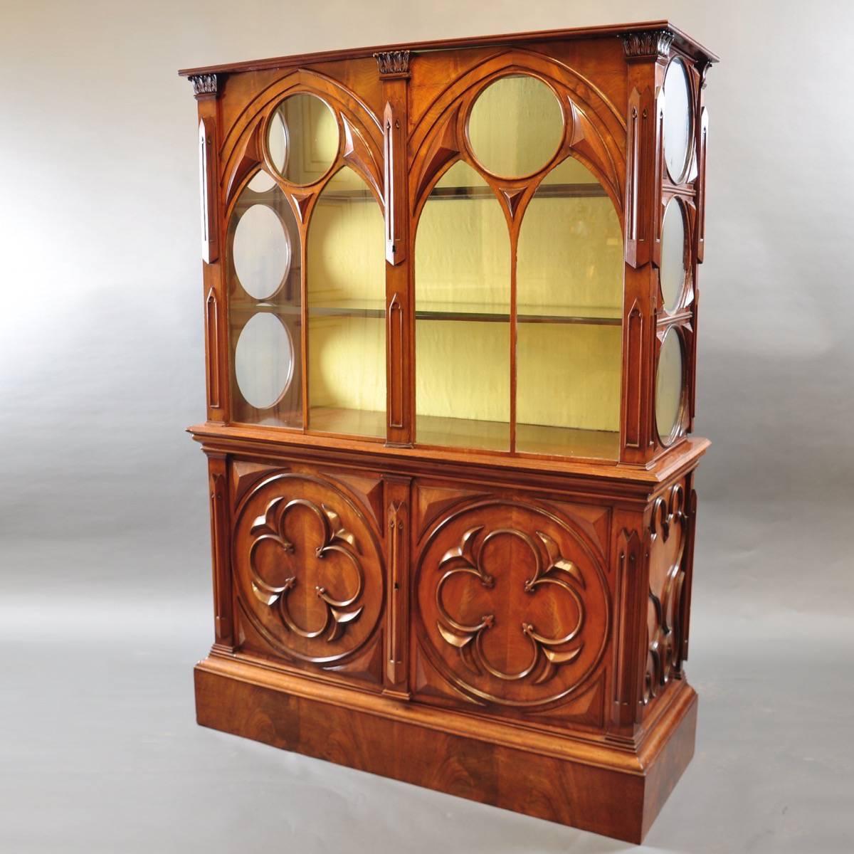 Gothic Style English Vitrine   De Grande Antique Furniture With Regard To Gothic Sofas (View 5 of 15)