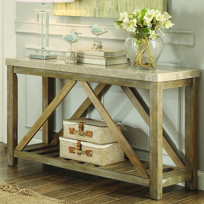 Gracie Oaks Bellas Console Table & Reviews | Wayfair For Gracie Chocolate Sofas (View 9 of 15)