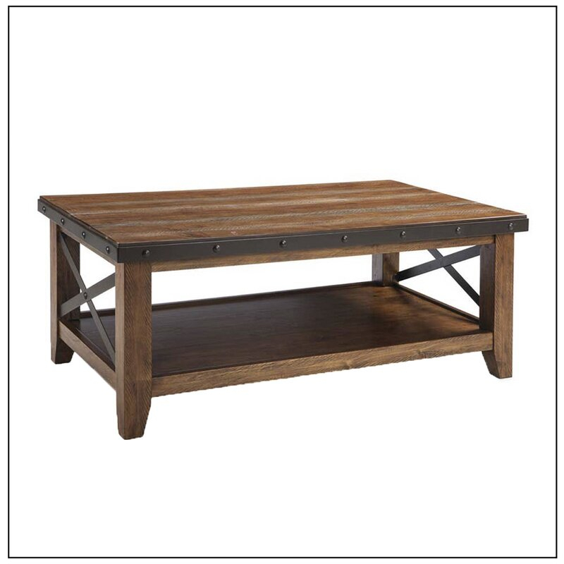 Gracie Oaks Taos Coffee Table – Multi Coloured Brown With Regard To Gracie Chocolate Sofas (View 15 of 15)
