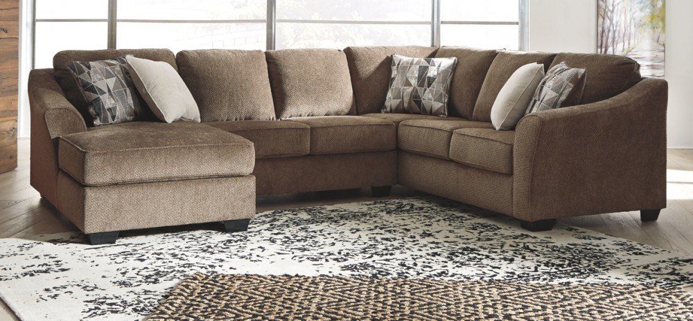 Graftin – 3 Piece Sectional With Chaise   91102S1/16/34/49 In 3Pc Polyfiber Sectional Sofas (View 15 of 15)