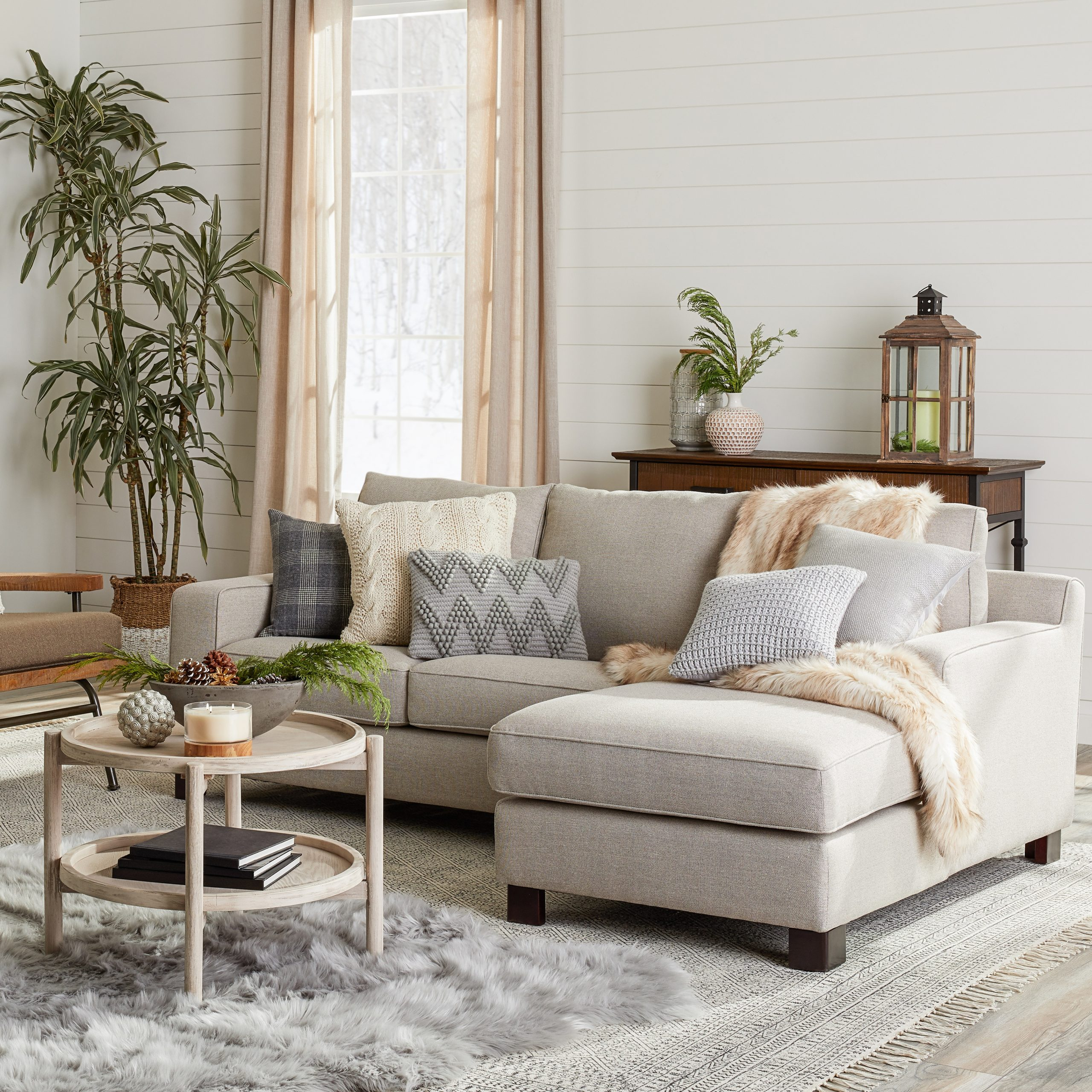 Gray Tweed Sectional Sofa Dante Sectional Sofa With Chaise In 2Pc Crowningshield Contemporary Chaise Sofas Light Gray (View 11 of 15)