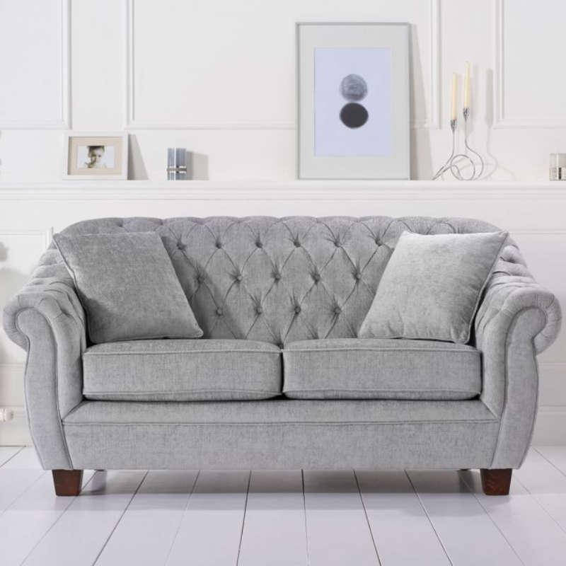 Grey Plush 2 Seater Sofa [Liv]   Cheap Furniture With Regard To 2 Seater Sofas (View 13 of 15)