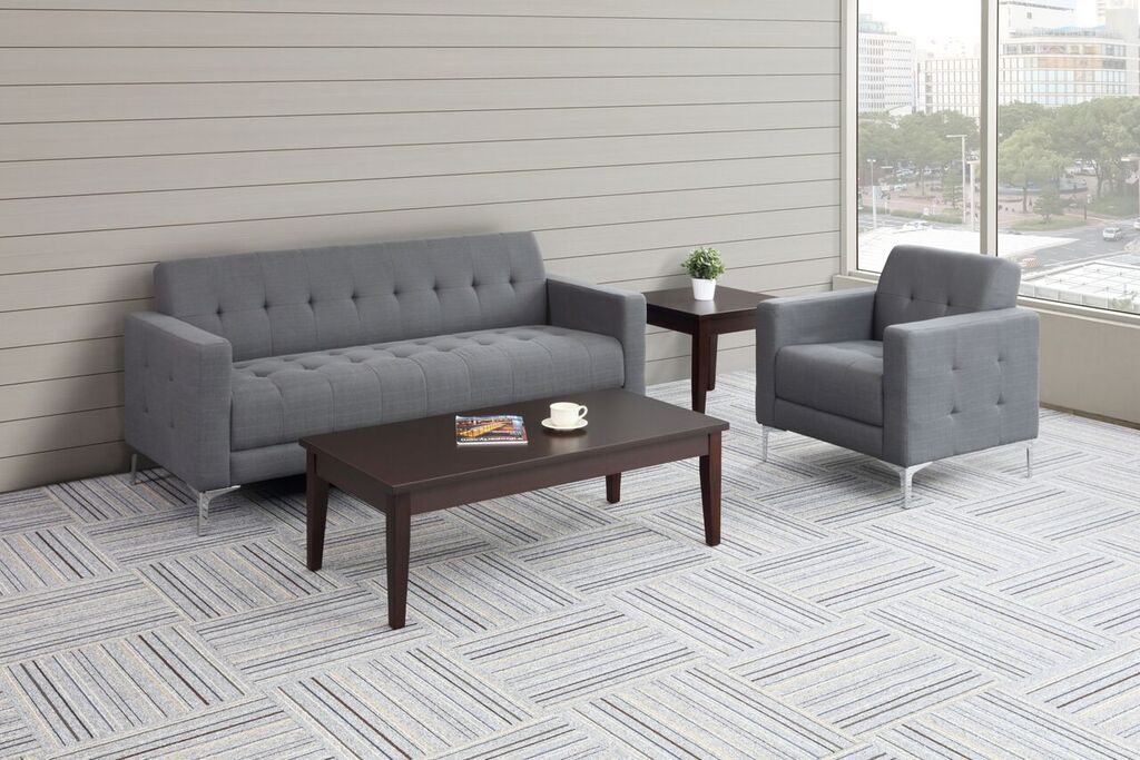 Hagan Reception Sofa | Golden State Office Furniture Intended For Office Sofas And Chairs (View 1 of 15)