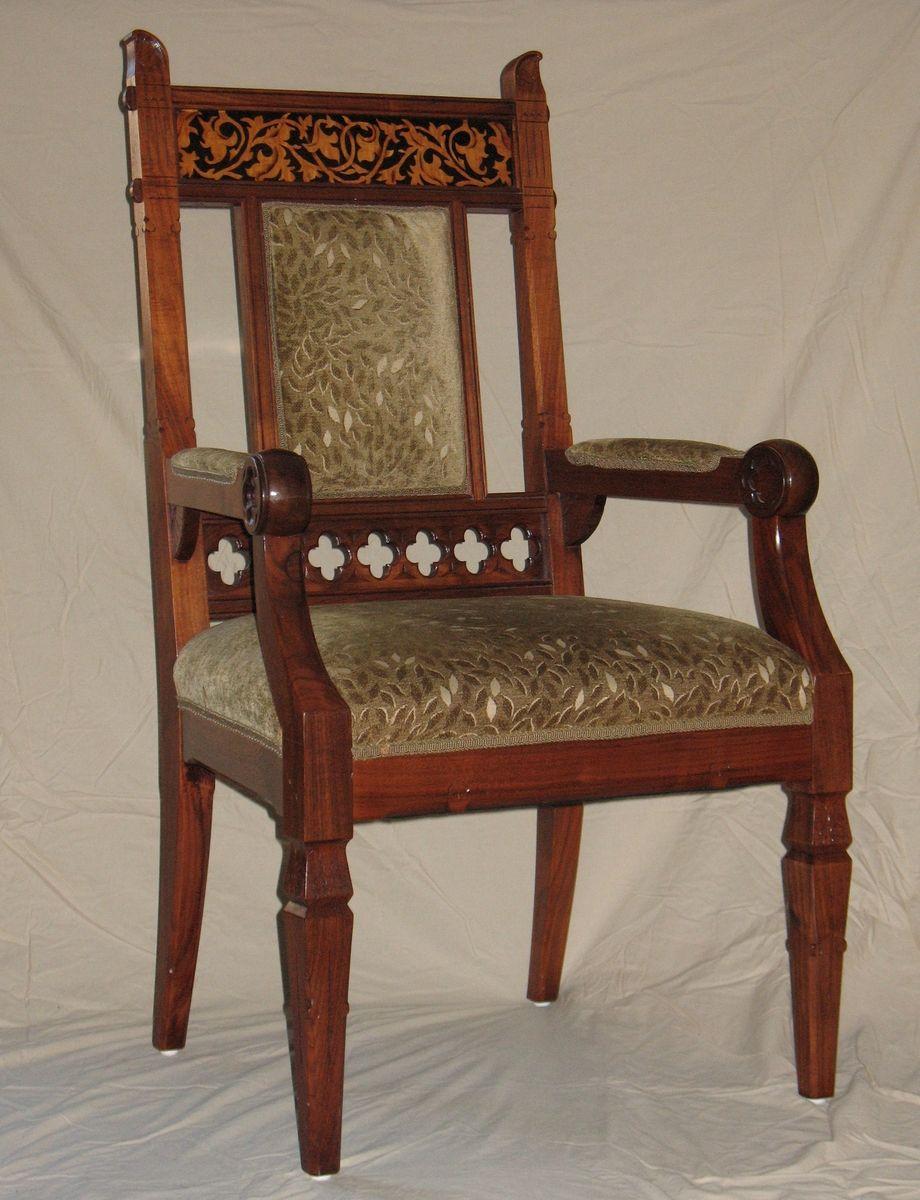 Handmade Gothic Revival Chairspaula Garbarino Custom With Regard To Gothic Sofas (View 10 of 15)