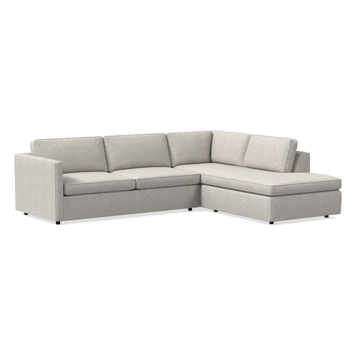 """Harris Sectional Set 11: Left Arm 75"""" Sofa, Right Arm Within Dulce Right Sectional Sofas Twill Stone (View 2 of 15)"""
