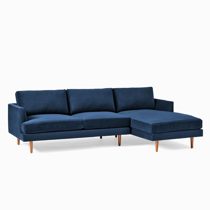 Haven Loft 2 Piece Chaise Sectional In 2020 | Modern Sofa Throughout 2Pc Connel Modern Chaise Sectional Sofas Black (View 14 of 15)