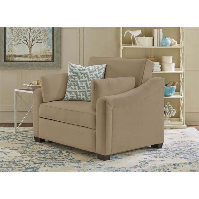 Hawthorne Collections Twin Convertible Sofa In Medium Regarding Twin Sofa Chairs (View 4 of 15)