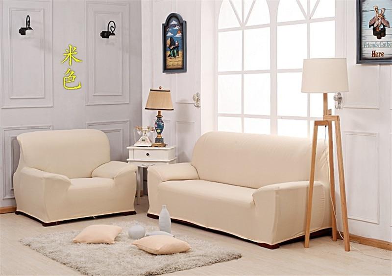 Hbq Universal Sofa Cover European Cream Colored Slipcover In Cream Colored Sofas (View 14 of 15)