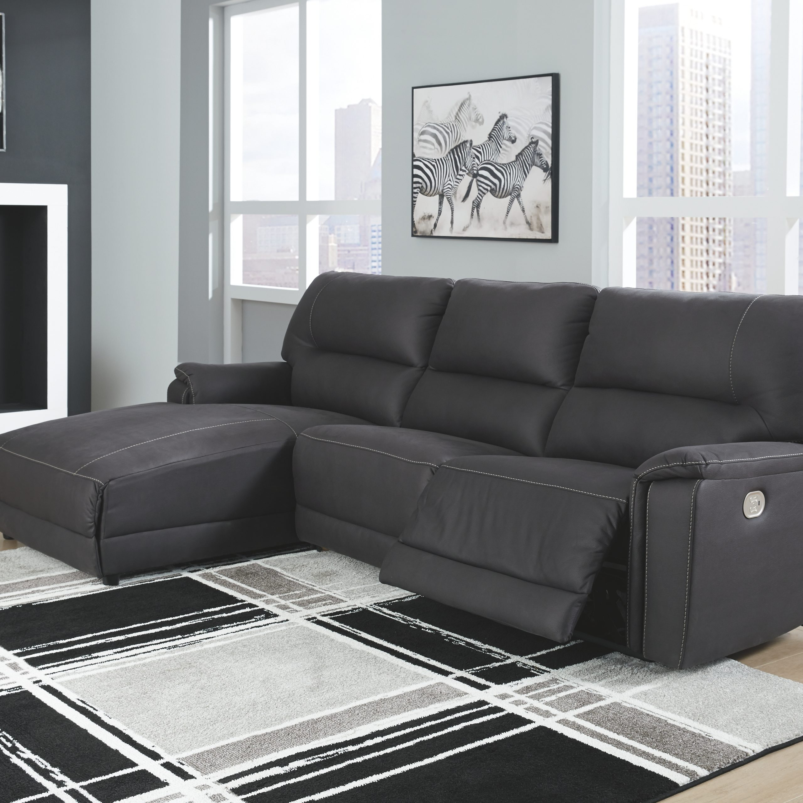 Henefer 3 Piece Reclining Sectional With Chaise And Power With Regard To 3Pc Polyfiber Sectional Sofas (View 7 of 15)