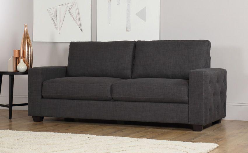 Henley Fabric Slate Sofa   Slate Sofa, Sofa, Buy Sofa For Gneiss Modern Linen Sectional Sofas Slate Gray (View 12 of 15)