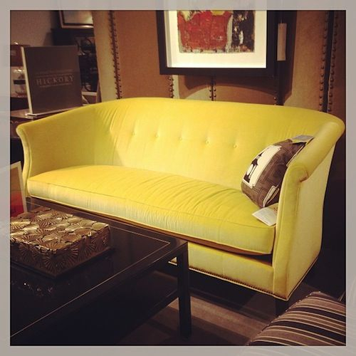 Hickory Couch March 2013 Instagram Updates | Yellow Sofa In Yellow Sofa Chairs (View 7 of 15)