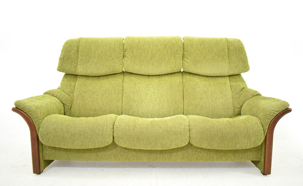 High Back Reclining 3 Seat Norwegian Sofa | Ekornes With Regard To Sofas With High Backs (View 13 of 15)