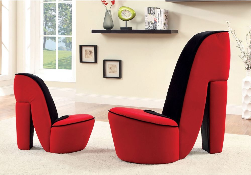 High Heel 2 Piece Accent Chair Set New High Fashioned Inside Heel Chair Sofas (View 5 of 15)