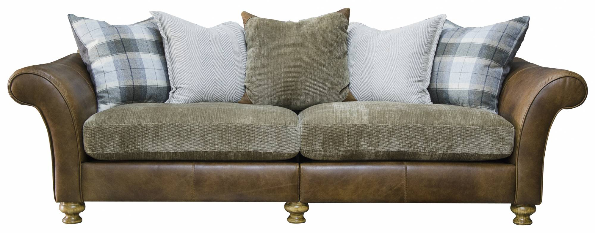 Highlander 4 Seater Leather Sofa (Grade 1) | Sofas For Four Seater Sofas (View 12 of 15)