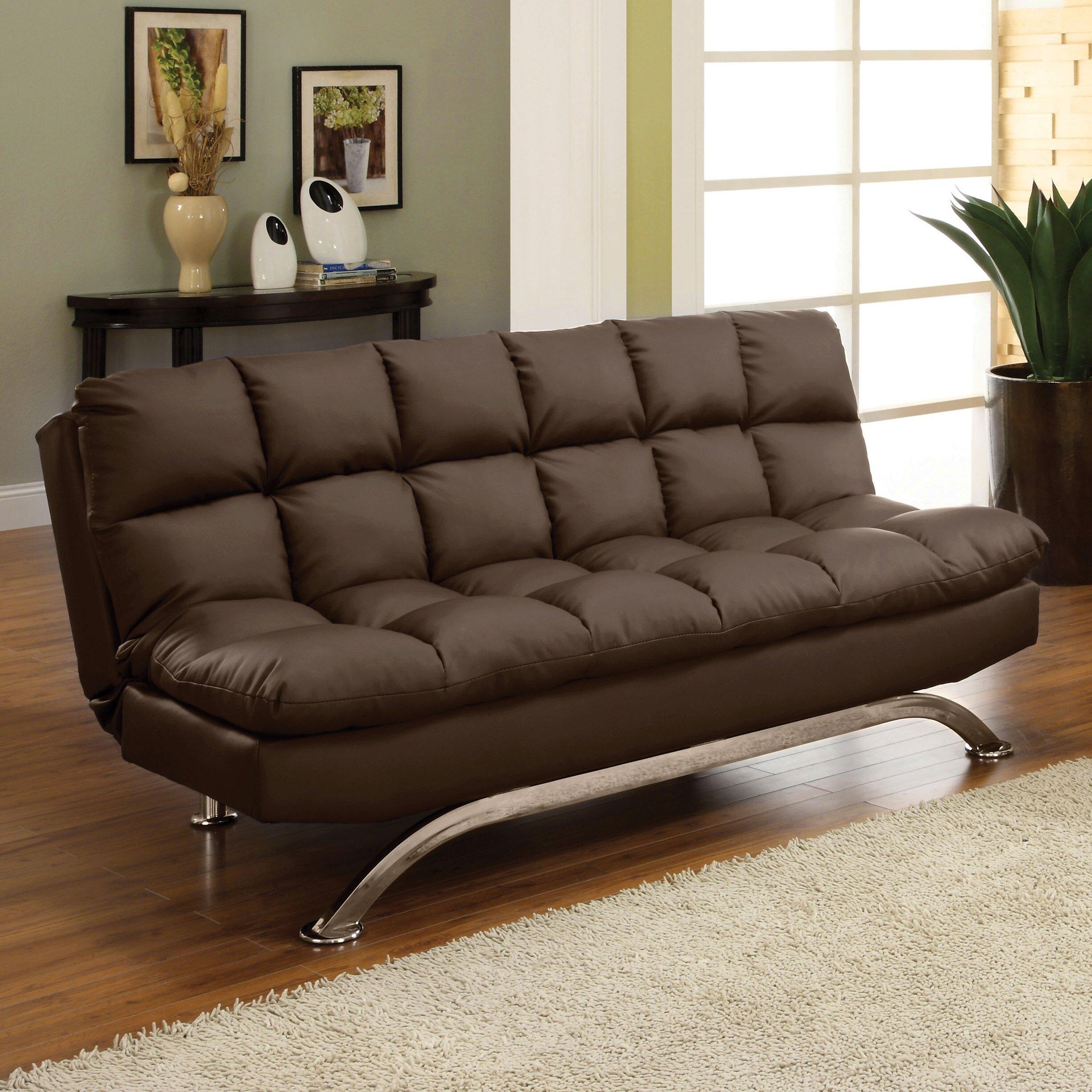 Hokku Designs Aristo Convertible Sofa & Reviews   Wayfair In Convertible Sectional Sofas (View 4 of 15)
