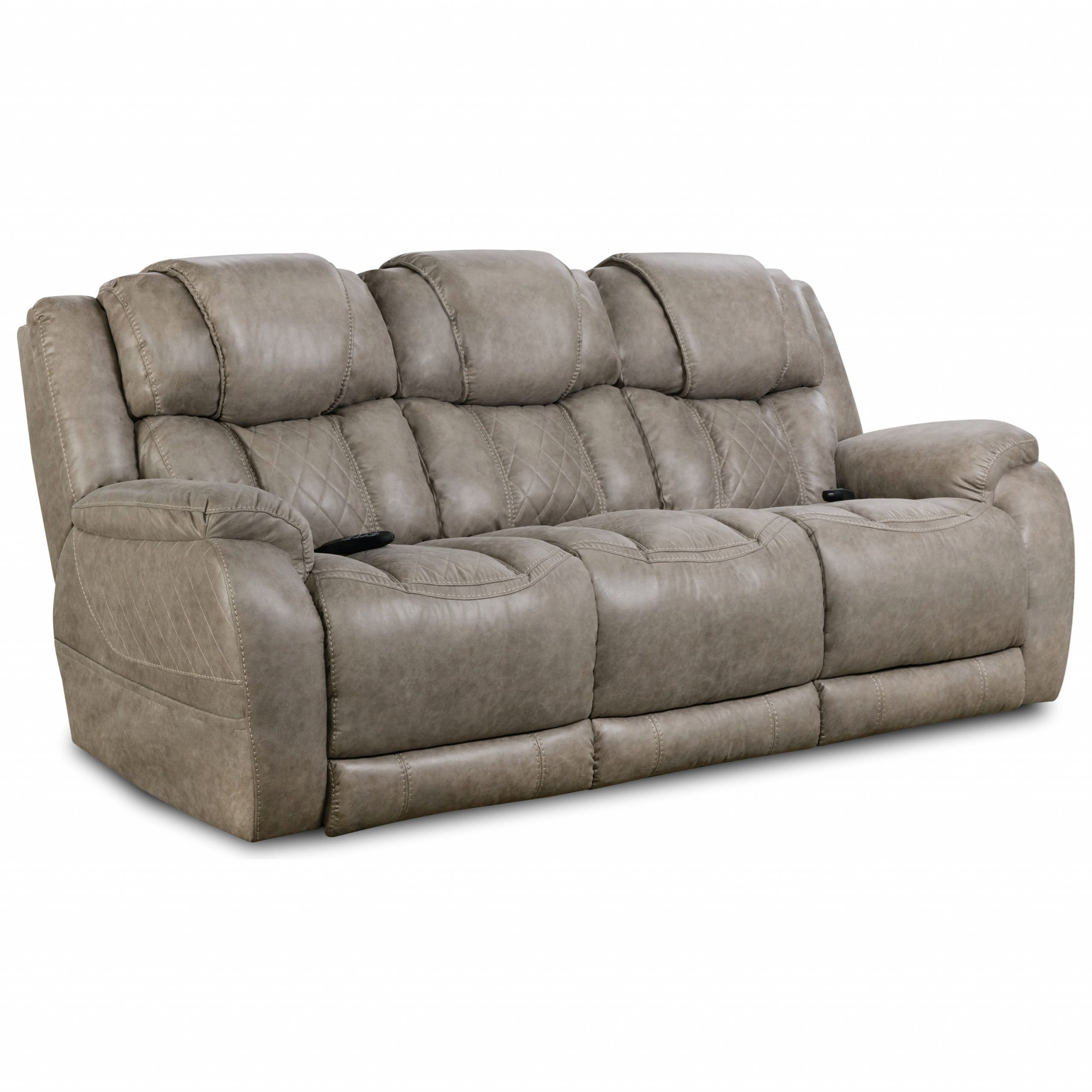 Homestretch 174 Casual Style Double Reclining Power Sofa In Raven Power Reclining Sofas (View 9 of 15)