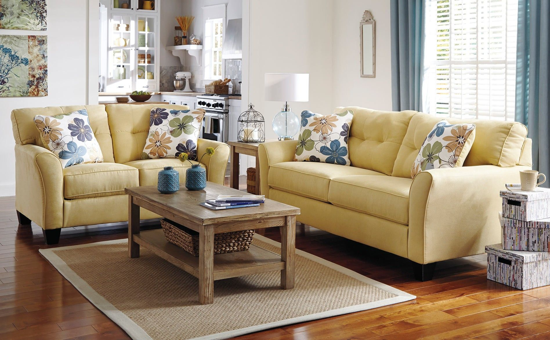 How Sweet Is This Yellow Sofa Set? This Can Surely Throughout Yellow Sofa Chairs (View 2 of 15)