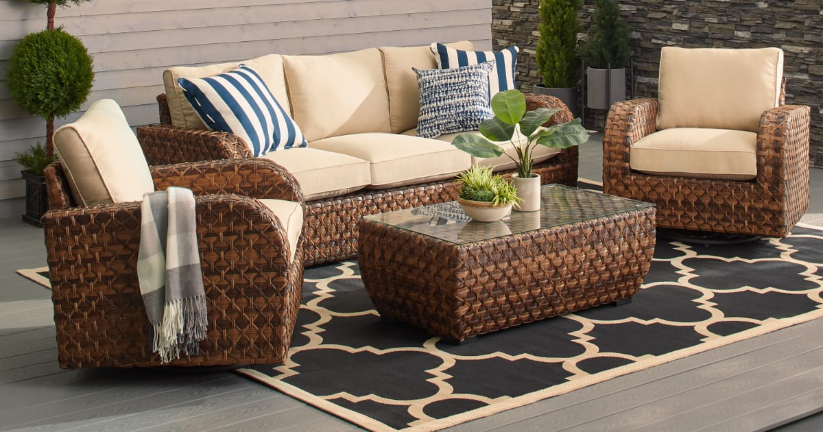How To Buy Outdoor Furniture That Lasts | Overstock Intended For Outdoor Sofas And Chairs (View 7 of 15)