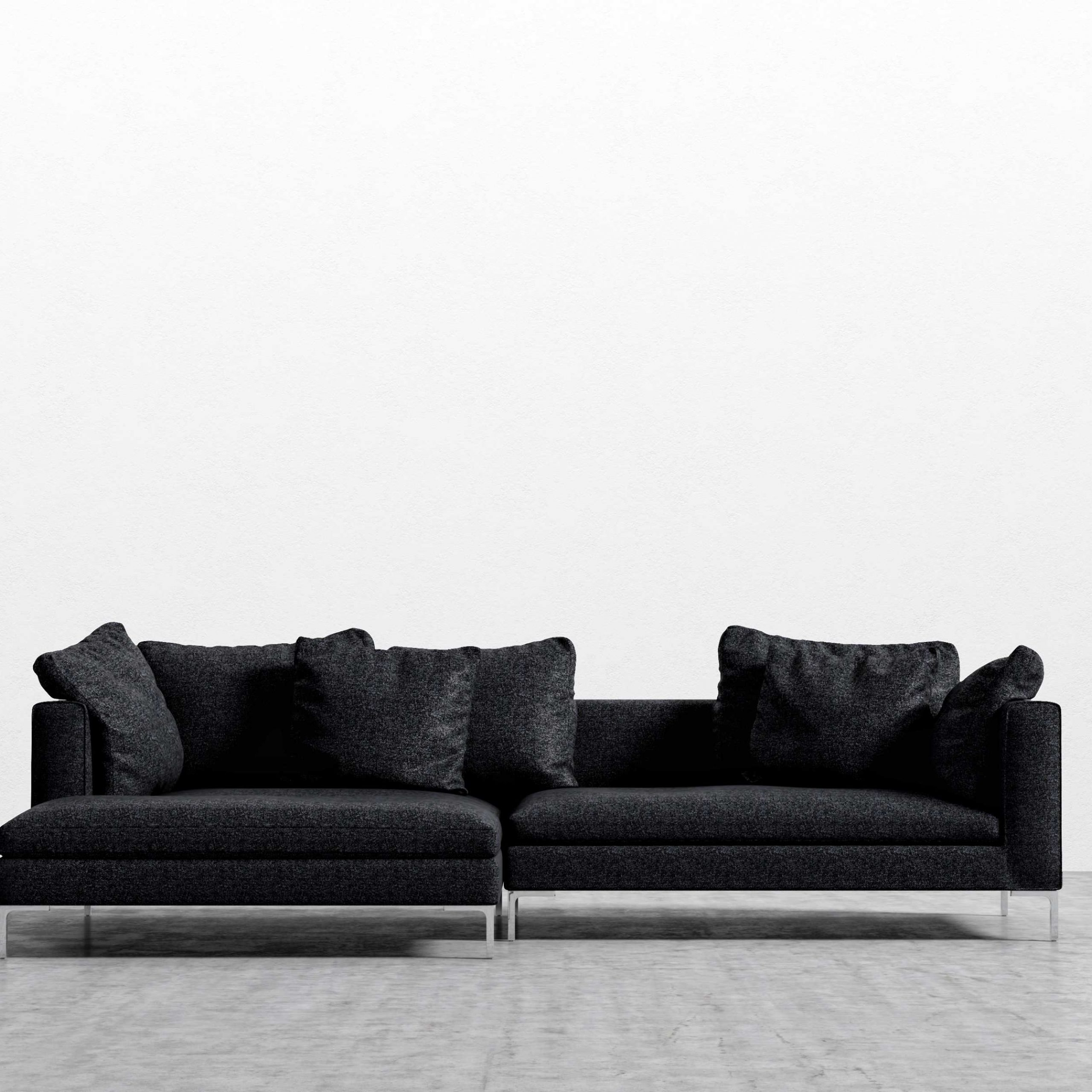Hugo Sofa Sectional   Modern Sofa Sectional   Rove Concepts Inside Gneiss Modern Linen Sectional Sofas Slate Gray (View 15 of 15)