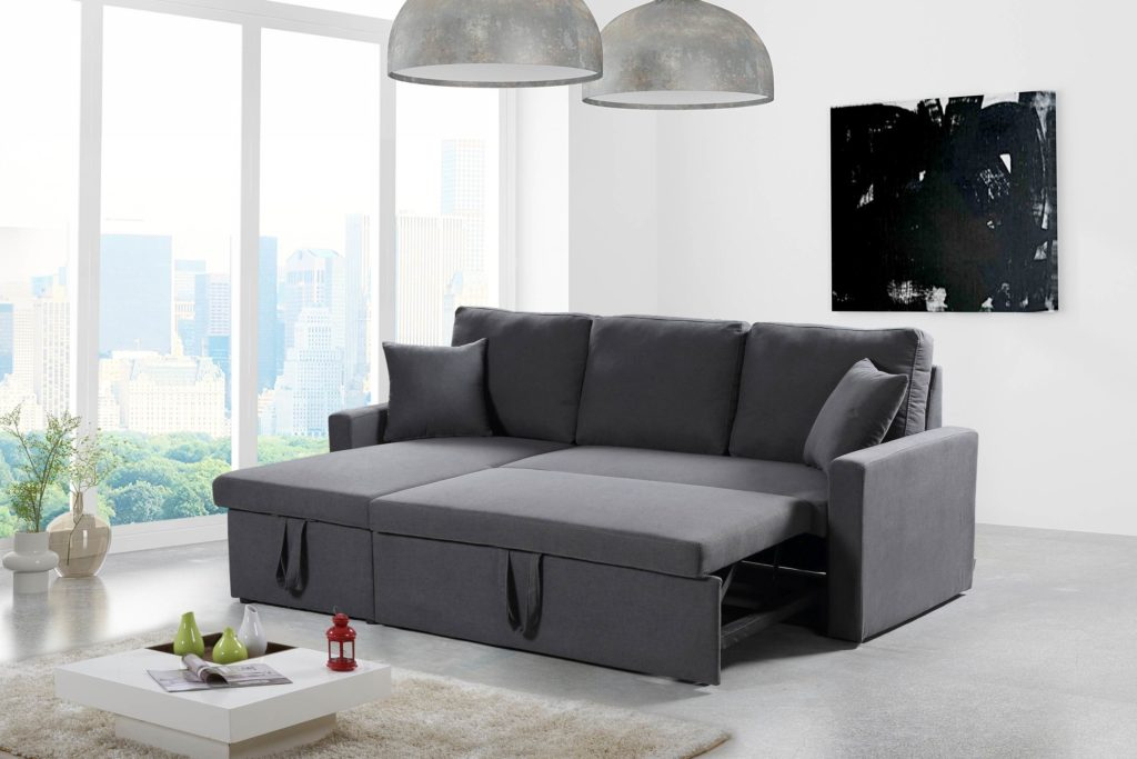 Husky® Reversible Sectional Sofa Bed – Free Shipping In Canada Pertaining To Twin Nancy Sectional Sofa Beds With Storage (View 15 of 15)