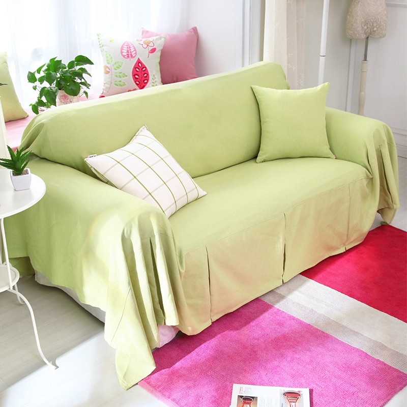Ice Cream Color Sofa Cover Slip Resistant Sofa Cover Solid With Cream Colored Sofas (View 13 of 15)