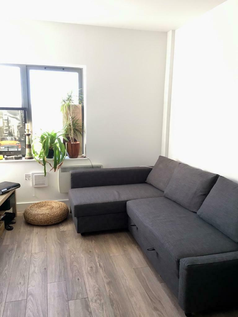 Ikea Friheten Corner Sofa Bed With Storage – Skiftebo Dark Intended For Ikea Corner Sofas With Storage (View 12 of 15)