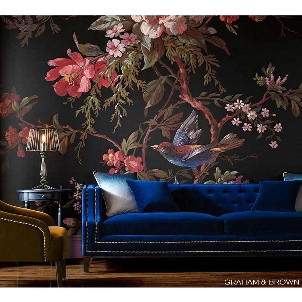 Imperial Blue Velvet Sofa | Luxurious Statement Sofa | Fbc In Artisan Blue Sofas (View 10 of 15)