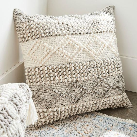Indian Handwoven Pillow Cover 18 X 18 Cushion Cover Pertaining To Magnolia Sectional Sofas With Pillows (View 8 of 15)