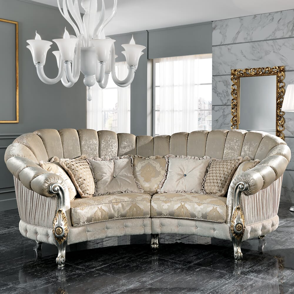 Italian Designer Four Seater Curved Sofa – Juliettes Interiors Inside 4 Seater Sofas (View 15 of 15)