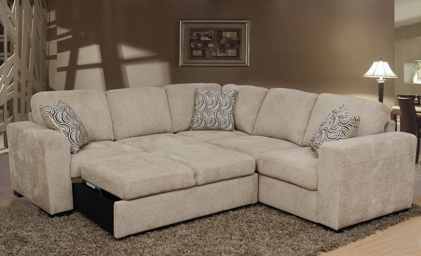 Izzy 2 Piece Chenille Sectional With Left Facing Sleeper Within Hugo Chenille Upholstered Storage Sectional Futon Sofas (View 6 of 15)