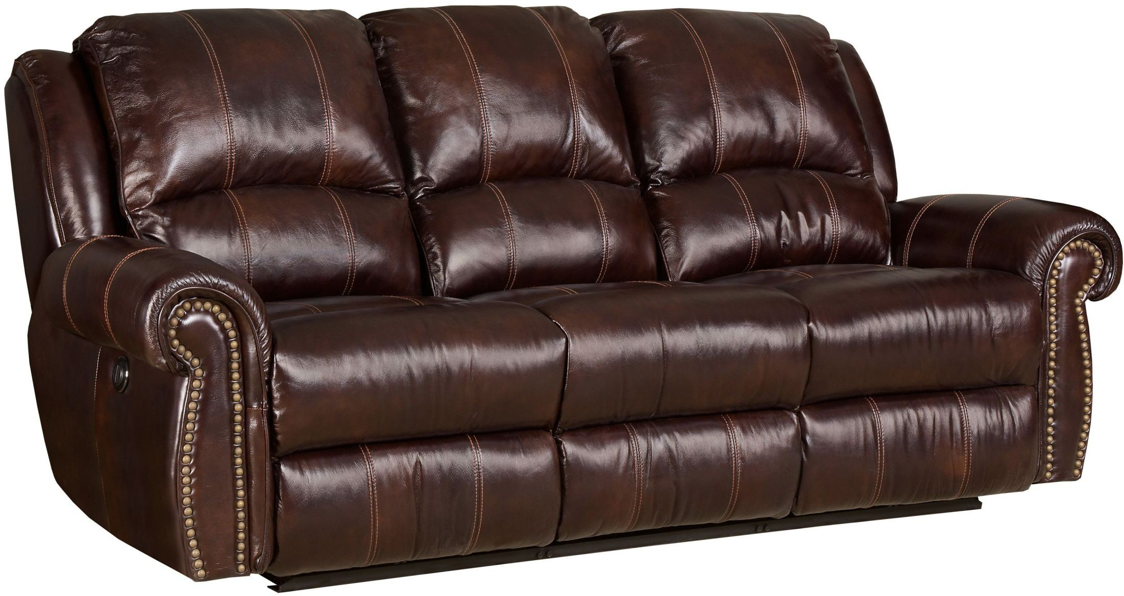 Jackson Brown Power Leather Reclining Sofa From Hooker For Expedition Brown Power Reclining Sofas (View 5 of 15)