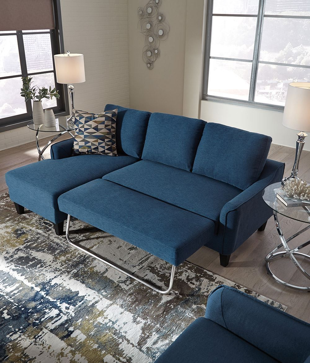 Jarreau Blue Sofa Chaise Sleeper | Unclaimed Freight Furniture With Blue Sofa Chairs (View 7 of 15)