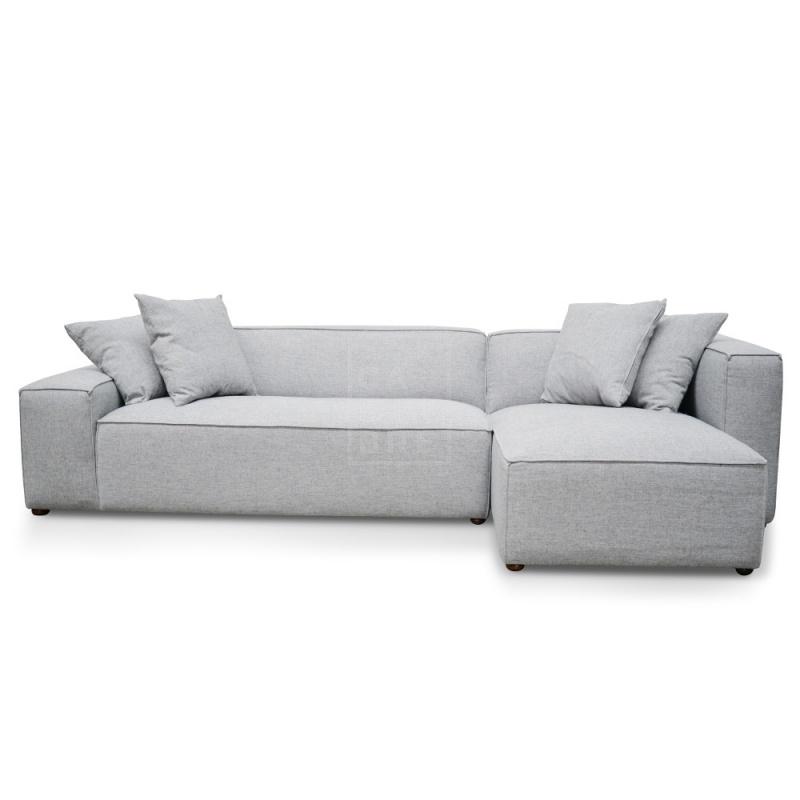 Jason 2 Seater Right Chaise Sofa – Cement Grey – Moorabbin Regarding Calvin Concrete Gray Sofas (View 8 of 15)