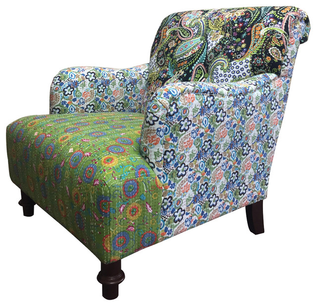 Jazztine Colorful Arm Chair – Eclectic – Armchairs And Regarding Colorful Sofas And Chairs (View 13 of 15)