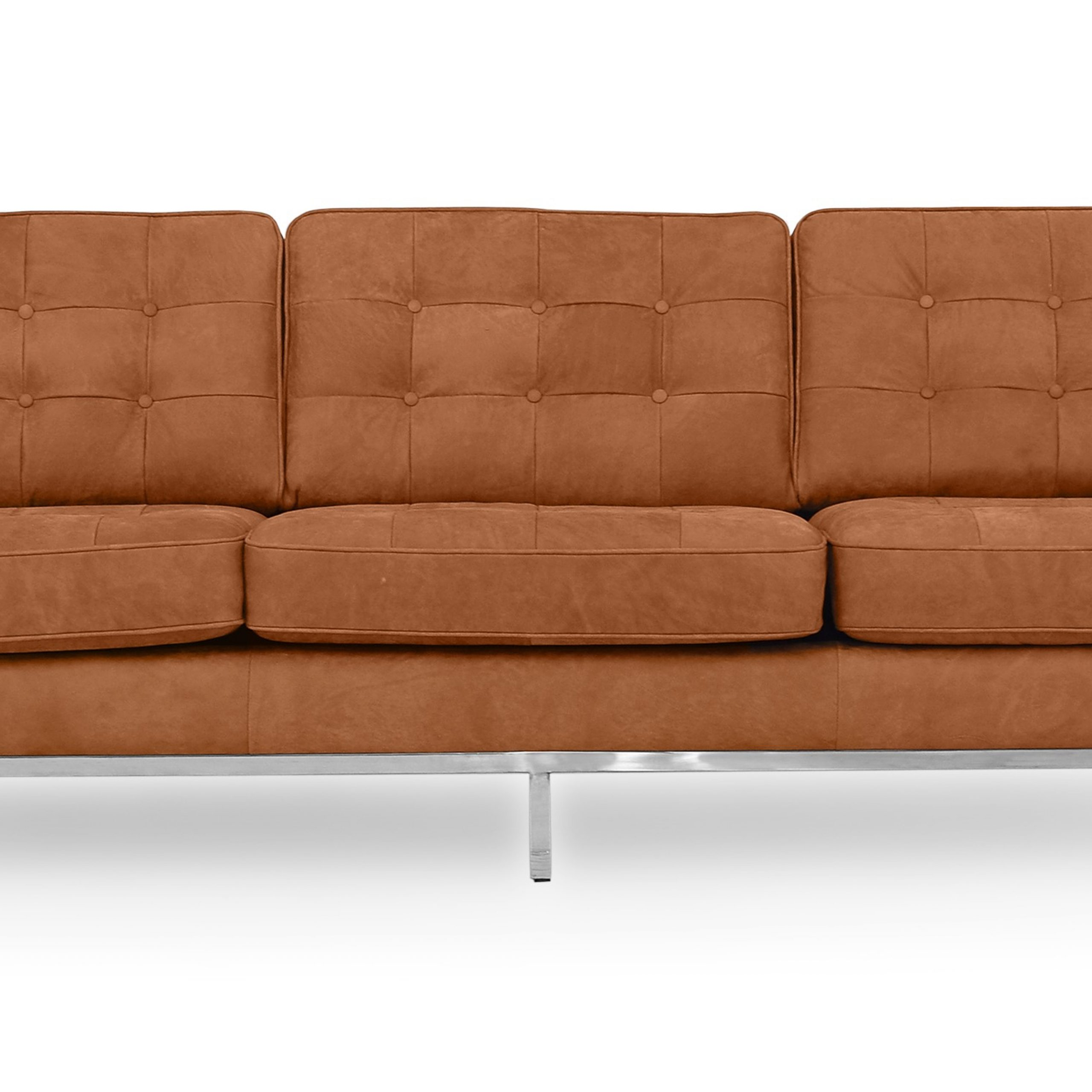 """Kardiel Florence Mid Century Modern 89"""" Sofa, Cognac Full Pertaining To Florence Mid Century Modern Right Sectional Sofas (View 1 of 15)"""