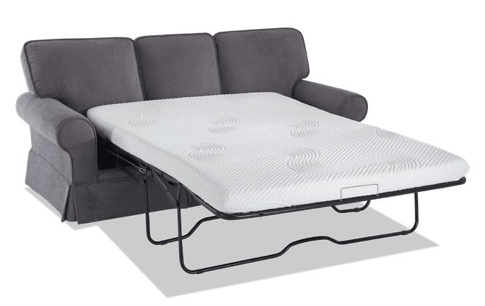 "Katie 80"" Full Charcoal Bob O Pedic Gel Sleeper Sofa Pertaining To Katie Charcoal Sofas (View 4 of 15)"