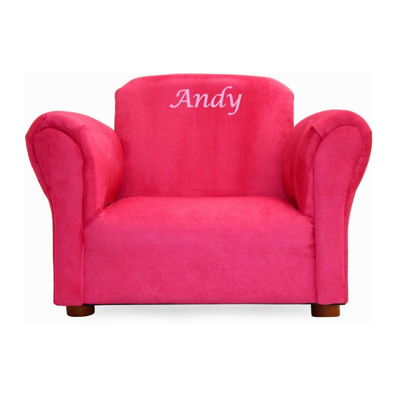 Keet Upholstered Personalized Kids Mini Chair Hot Pink Inside Personalized Kids Chairs And Sofas (View 3 of 15)
