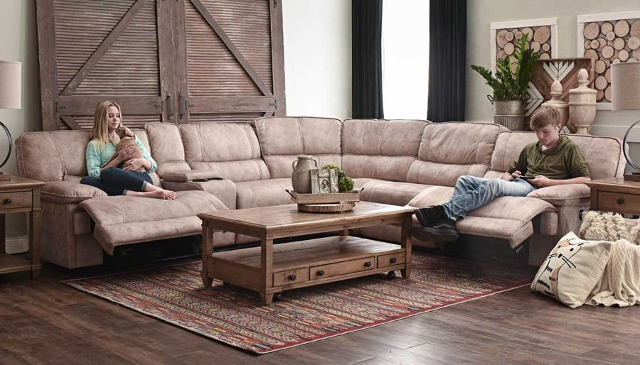 Kennedy Ii Brown Power Sectional – Home Zone Furniture For Forte Gray Power Reclining Sofas (View 14 of 15)