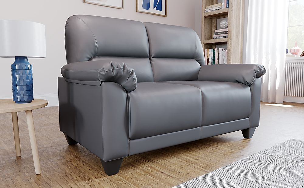 Kenton Small Grey 2 Seater Sofa | Furniture And Choice Intended For Grey Sofa Chairs (View 12 of 15)