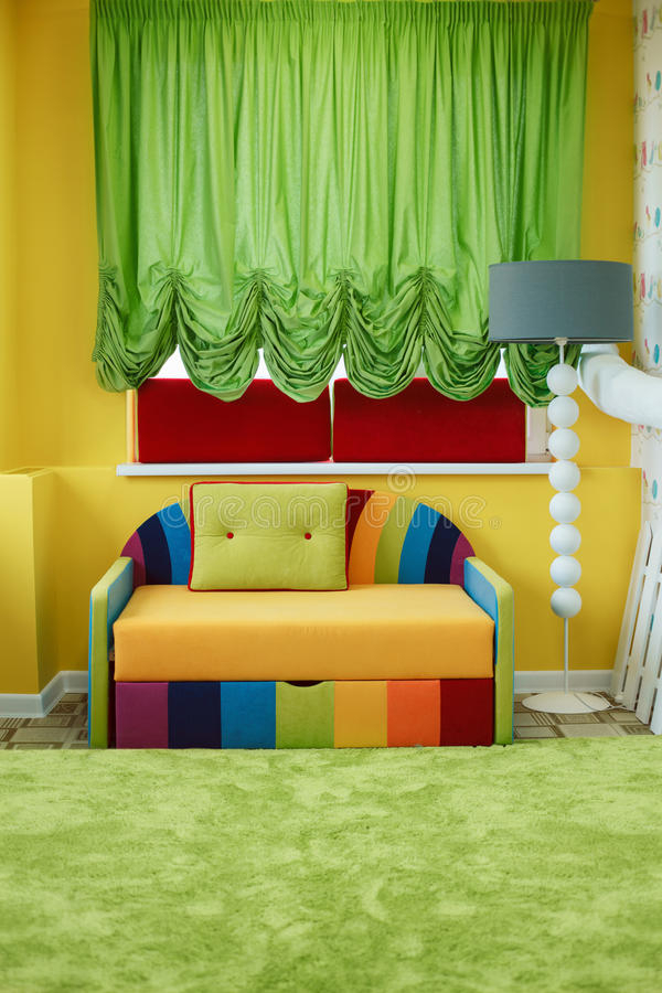 Kindergarten Room Decorated With Colorful Sofa (View 4 of 15)