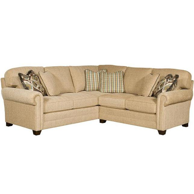 King Hickory Winston Transitional Sectional With Rolled Inside Winston Sofa Sectional Sofas (View 14 of 15)