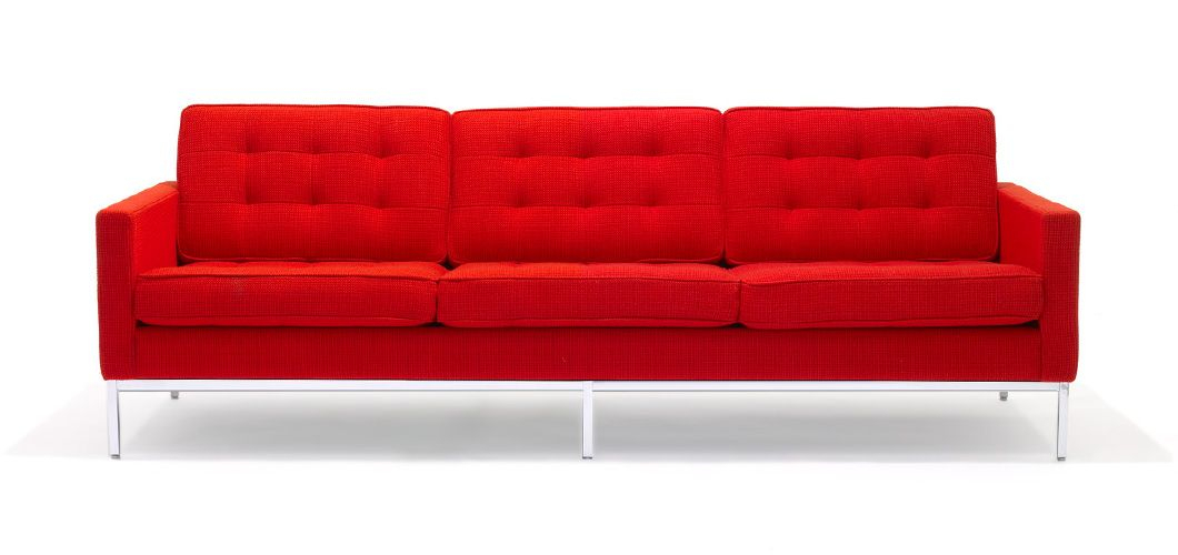 Knoll Fkb Sofaflorence Knoll   Sofa, Red Sofa, Red Pertaining To Florence Sofas And Loveseats (View 8 of 15)