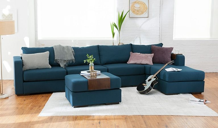 L Sectional Build A Couch With Extra Covers, Washable With Dream Navy 3 Piece Modular Sofas (View 1 of 15)
