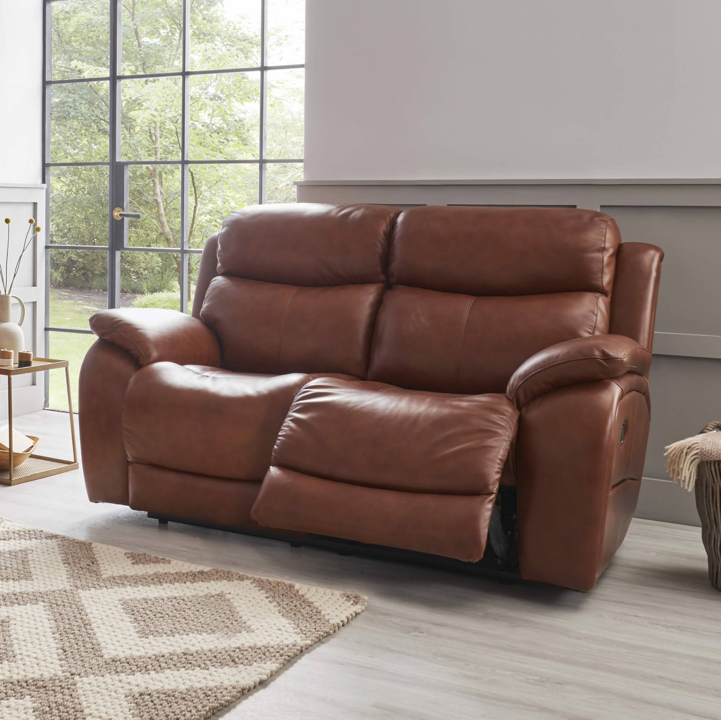 La Z Boy Ely 2 Seater Manual Recliner Sofa – Fabric Throughout Manual Reclining Sofas (View 2 of 11)