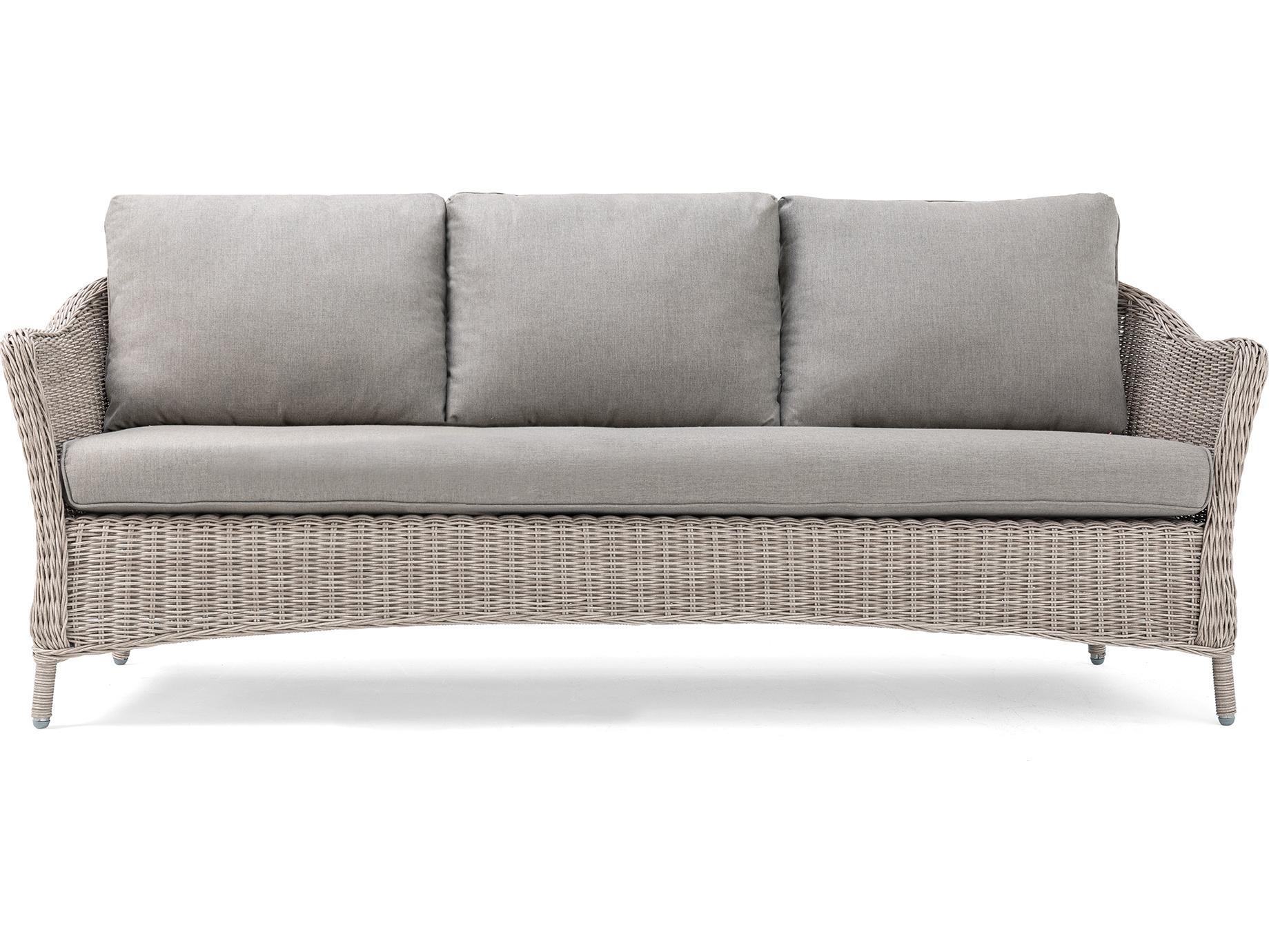 La Z Boy Quick Ship Laurel Cushion Gray Wicker Sofa In Pertaining To Laurel Gray Sofas (View 3 of 15)
