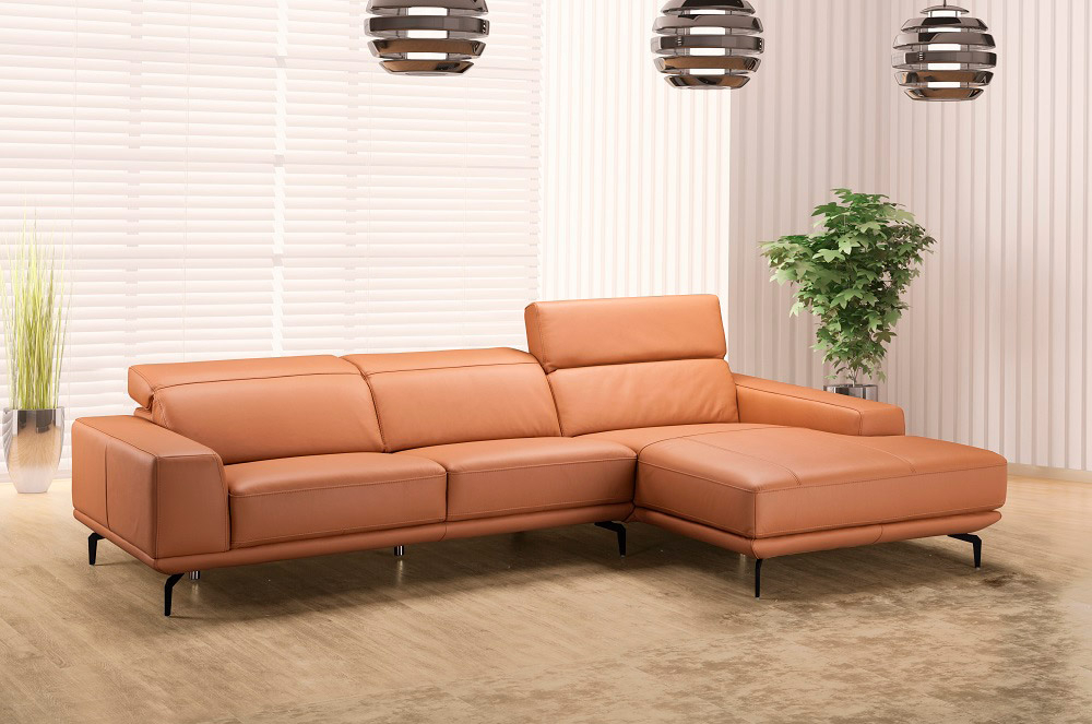 Lara Leather Sectional Sofa   Leather Sectionals Throughout Sectional Sofas (View 3 of 15)