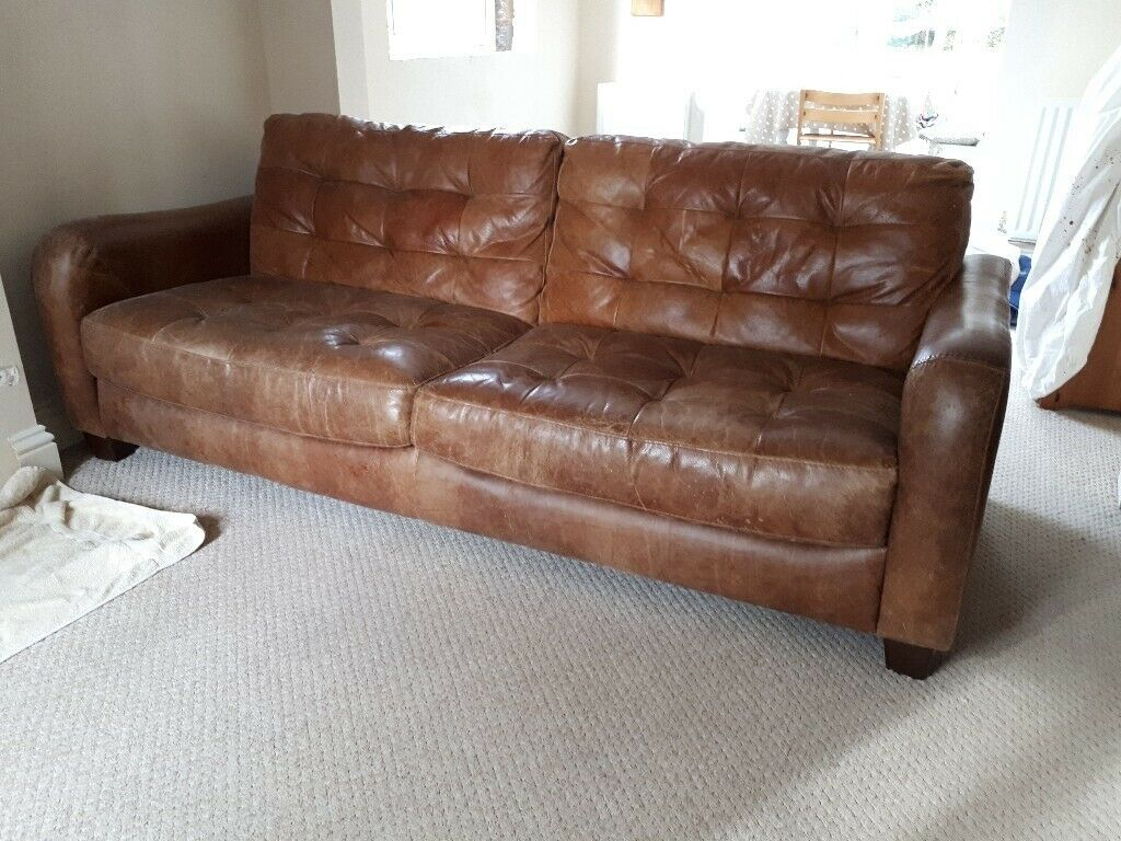 Large 4 Seater Leather Sofa | In Broadclyst, Devon | Gumtree With Regard To 4 Seat Leather Sofas (View 5 of 15)